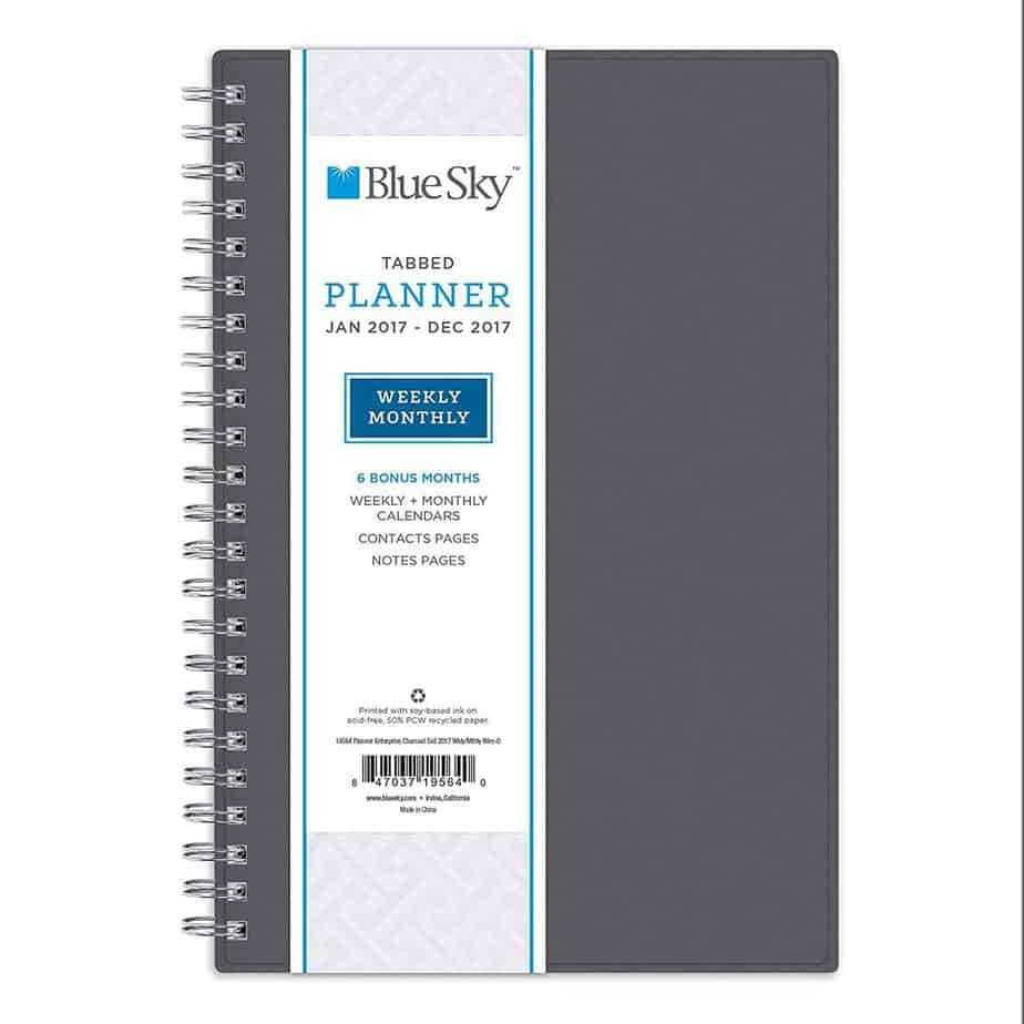 Blue Sky 2017 Weekly _ Monthly Planner