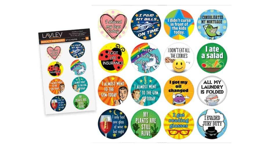 Lavley 16 Adult Achievement Stickers