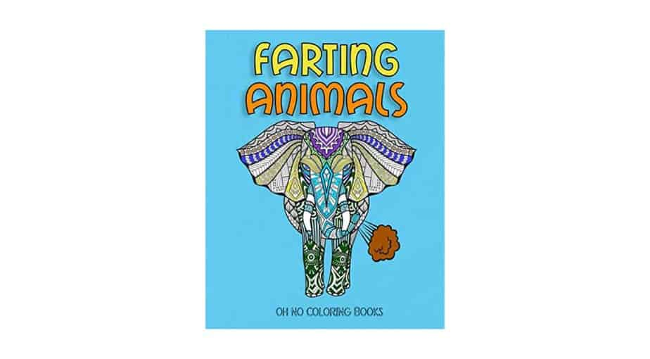 Farting Animals: Adult Coloring Book