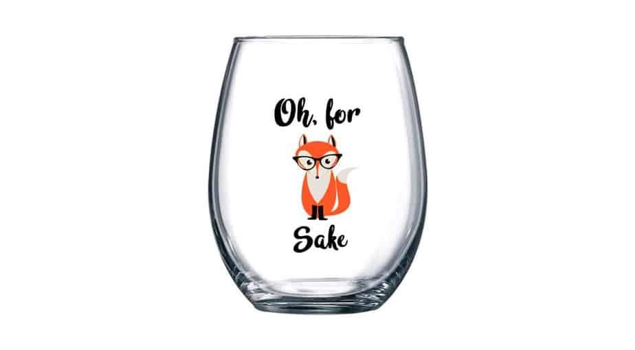 Oh, for Fox Sake Stemless Wine Glass