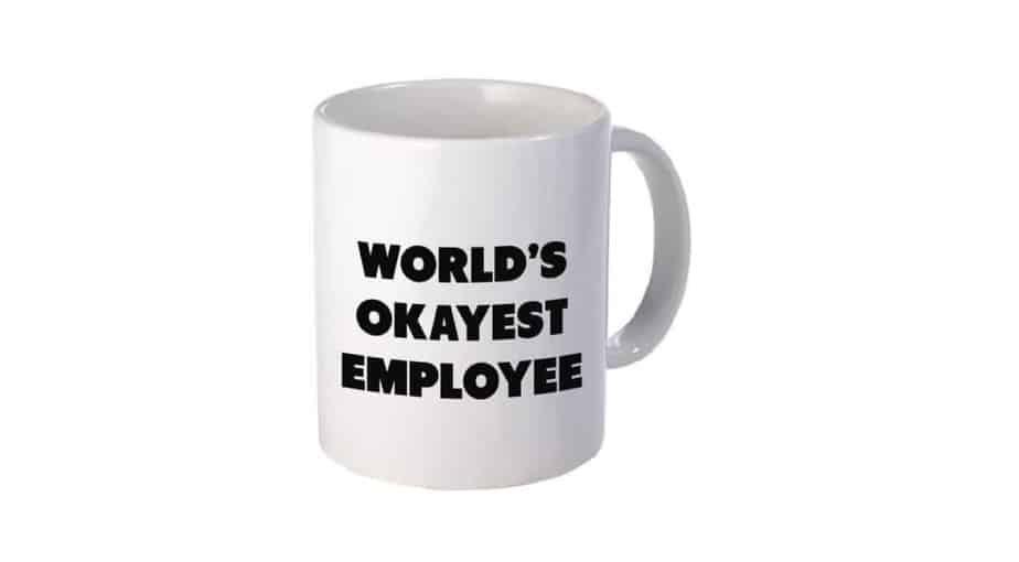 World's Okayest Employee Mug