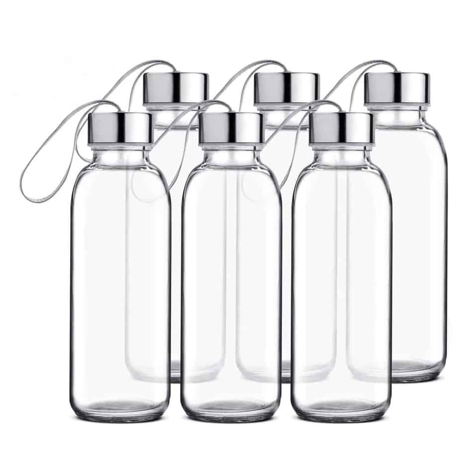 Chef's Star Glass Water Bottle 6-Pack