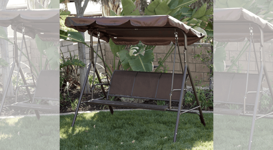 Outdoor 3-Person Patio Swing