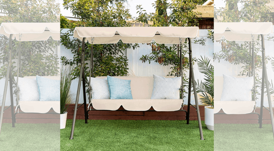 2-Person Outdoor Convertible Canopy Swing