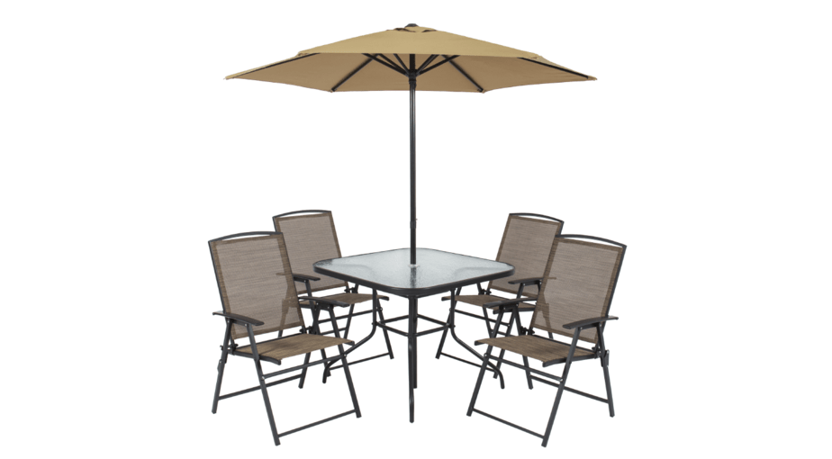 Best Choice Products 6-Piece Outdoor Folding Patio Dining Set