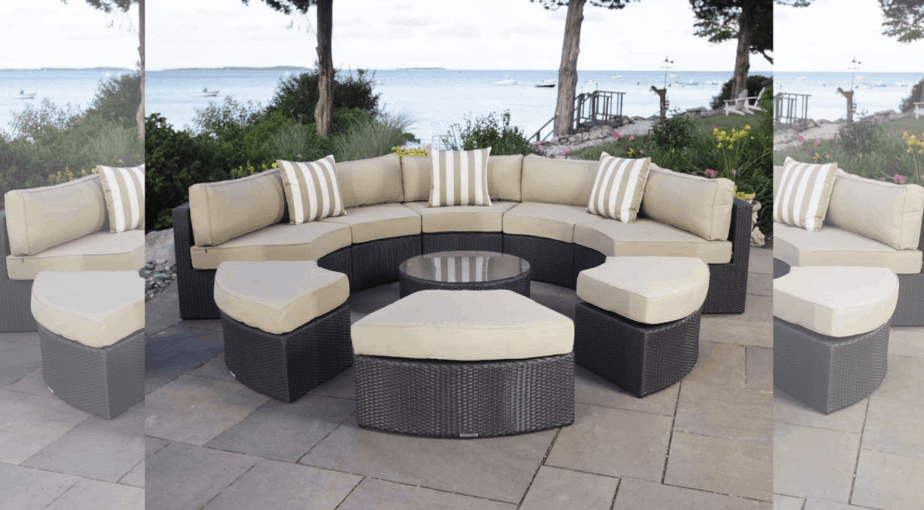 Santorini 9-Piece Outdoor Daybed Set, Espresso