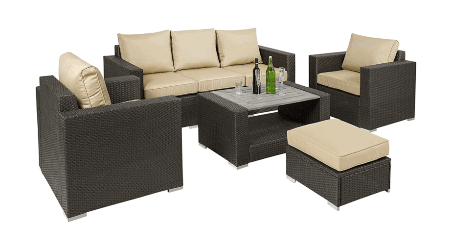 Best Choice Products 7-Piece Outdoor Patio Wicker Sectional Furniture Sofa Set w/ Table, Cushions, Ottoman