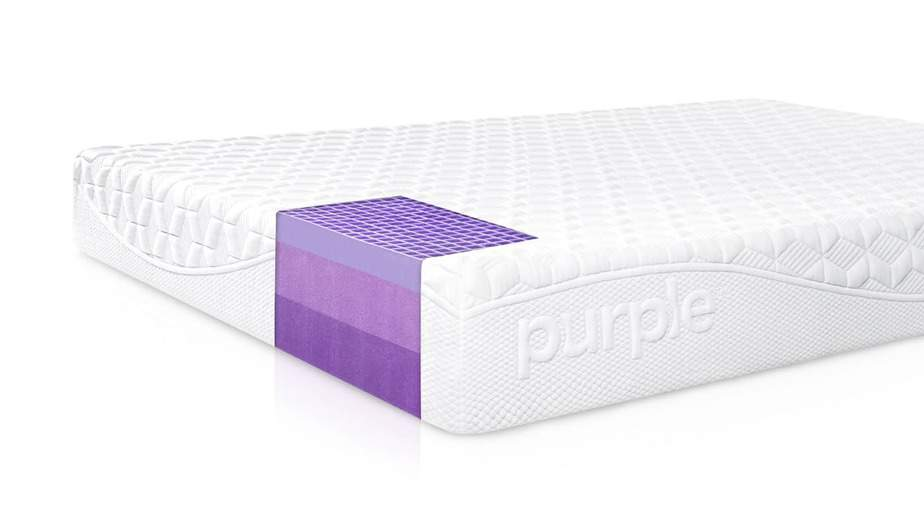 Purple mattresses use strong, stretchy, gel-like Hyper-Elastic Polymer.