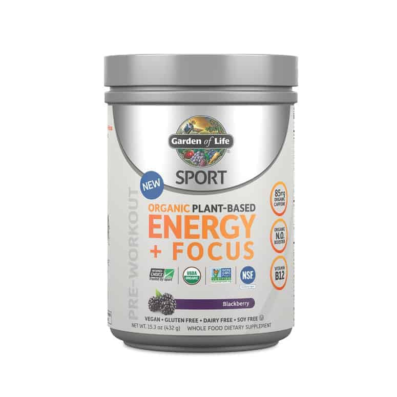 Garden of Life Sport Organic Plant-Based Energy + Focus