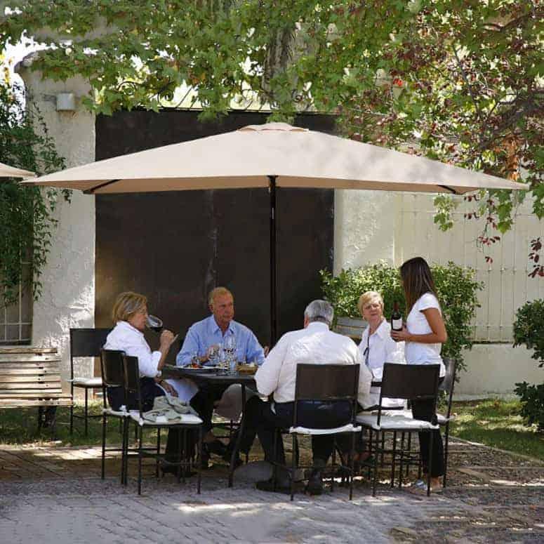 KINGYES Rectangular Patio Table Umbrella
