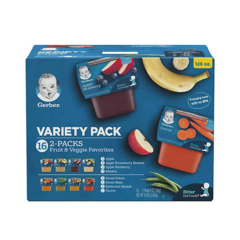 Gerber's Purees 2nd Veggie and Fruit