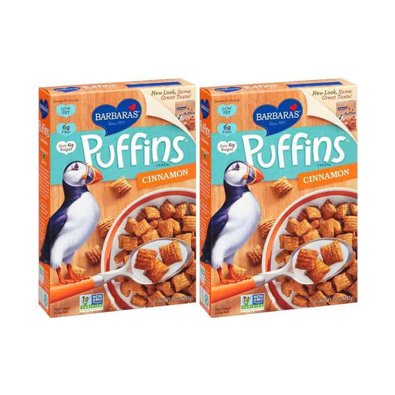 BARBARA'S Puffins Cereal, Cinnamon