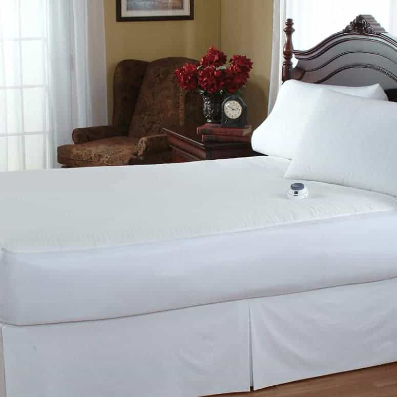 Serta 233-Thread Count Electric Heated Mattress Pad