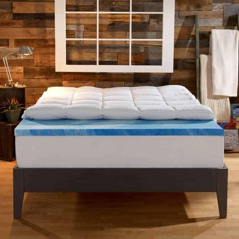 Sleep Innovations' 4-Inch Dual Layer Mattress Topper