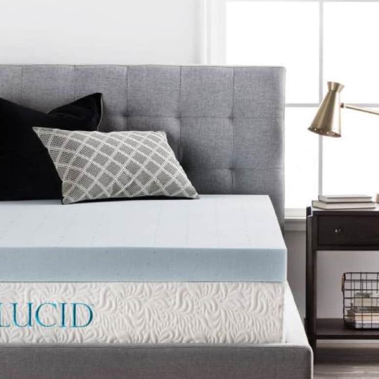 Lucid's 4-Inch Gel Memory Foam Mattress Topper