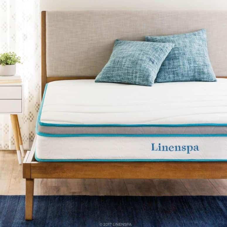 Linenspa 8 Inch Memory Foam Hybrid Mattress