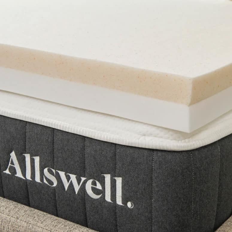 "Allswell 4"" Memory Foam Mattress Topper Infused with Copper Gel"