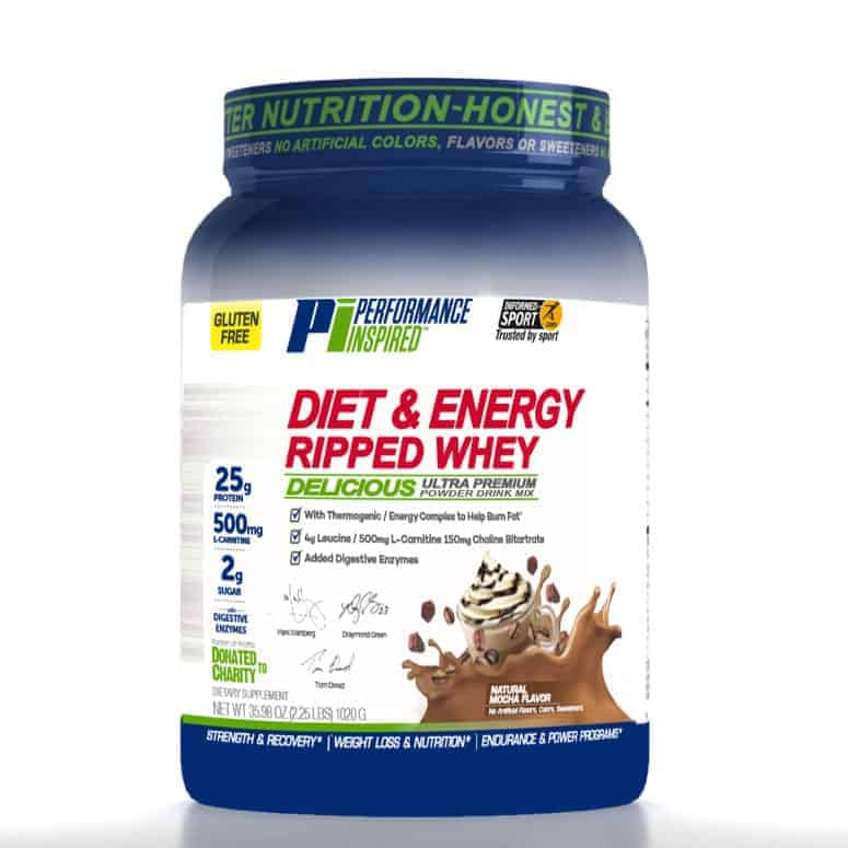 Performance Inspired Nutrition Diet & Energy Ripped Whey