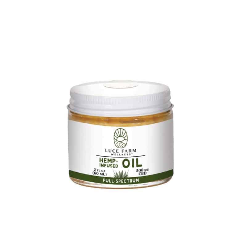 Luce Farm Wellness Hemp-Infused CBD Coconut Oil