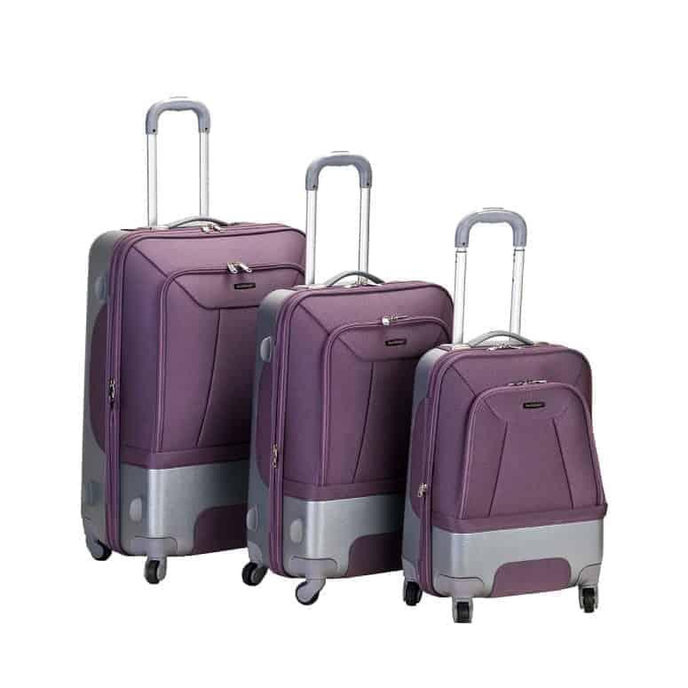 Rockland Luggage Rome Polycarbonate 3 Piece Luggage Set