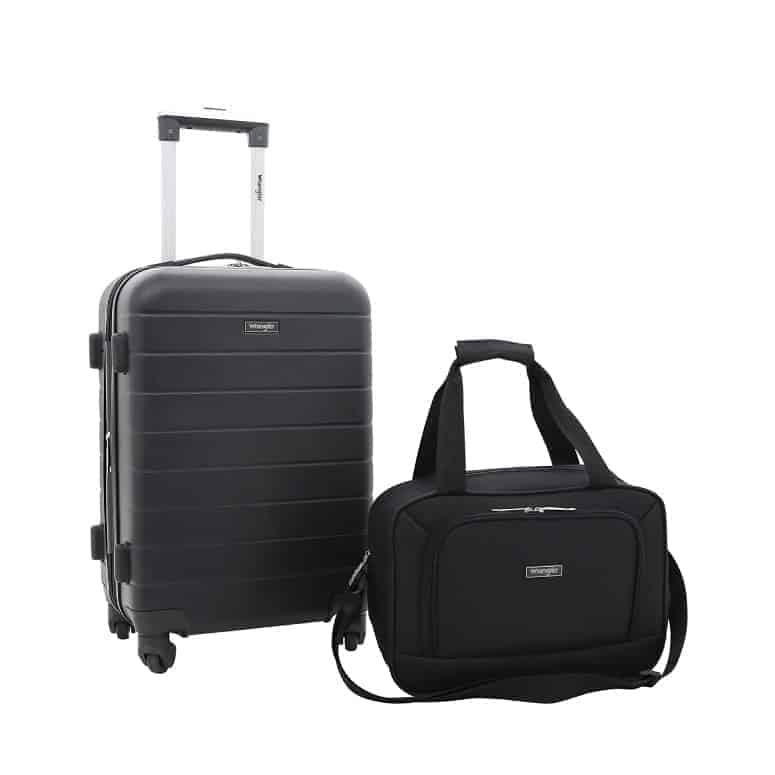 Wrangler 2 Piece Smart Spinner Carry-On Luggage Set