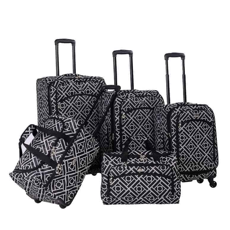 American Flyer Astor 5-Piece Spinner Luggage Set