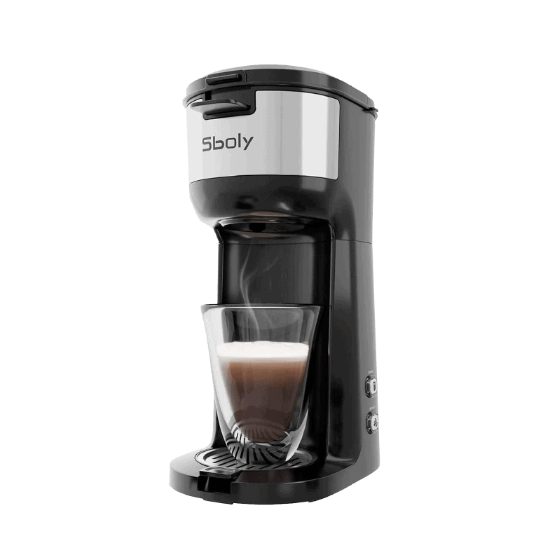 Sboly Single Serve Coffee Maker Brewer for K-Cup Pod and Ground Coffee
