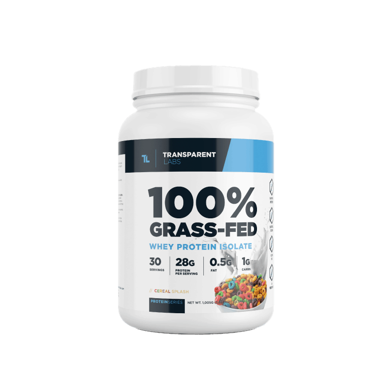 Transparent Labs 100% Grass-Fed Whey Isolate